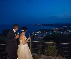 Cala dei Balcani - Gli sposi sulla terrazza