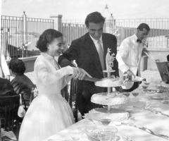 Il giardino di Villa Lina - Ricevimento di nozze anni '50