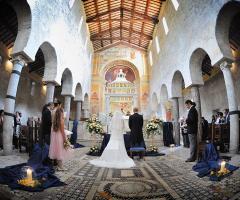 Abbazia di Sant'Andrea in Flumine - Gli sposi in chiesa