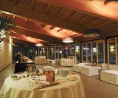 Sala interna con veranda per il matrimonio