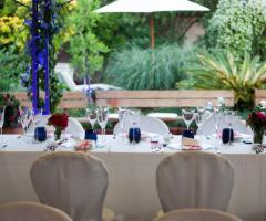 Il giardino di Villa Lina - I dettagli della tavola