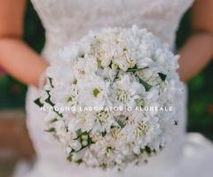 Il Sogno - Laboratorio Floreale - Bouquet bianco per la sposa