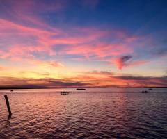 Parco della Laguna Lesina - Al tramonto