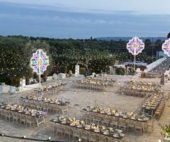 Masseria San Nicola -  Il ricevimento di nozze all'aperto