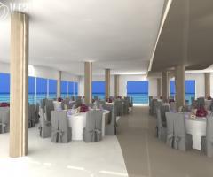 Kora Pool and Beach Events - Sala interna della location di nozze con vista sul mare