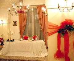 Allestimento natalizio per il matrimonio