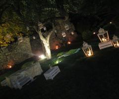 Abbazia di Sant'Andrea in Flumine - Lanterne per il ricevimento di nozze serale