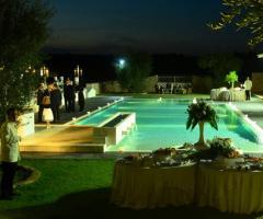 Piscina della masseria per matrimoni a Bari