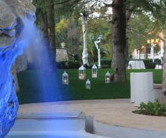 Allestimento del matrimonio con lanterne