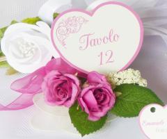 Partecipazioni Bijoux - Segnatavolo cuore collezione abbracci