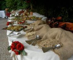 Allestimento buffet per matrimonio