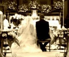 Foto sposi durante il matrimonio