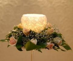 Allestimento floreale per il ricevimento di matrimonio