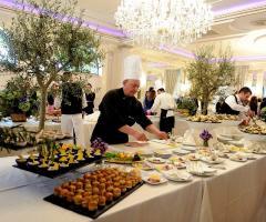 Allestimento del buffet di nozze