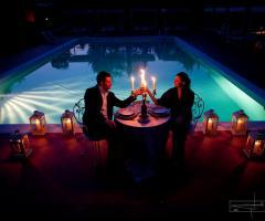 Tenuta i Massini - Gli sposi a bordo piscina