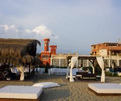Castello Miramare - Gazebo sulla spiaggia