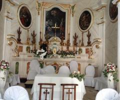 Chiesa interna alla location per la cerimonia
