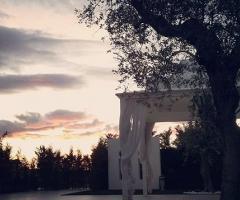 Esterni di Villa Carafa al tramonto