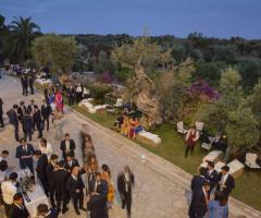 Masseria San Nicola - Vista dall'alto degli invitati