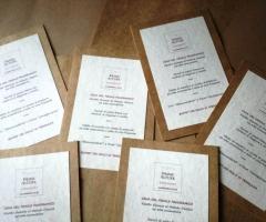Partecipazioni e Coordinati di Tonia D'Adderio - Il menù