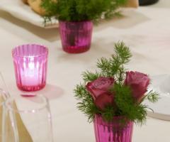 Segnaposti con rose e candele