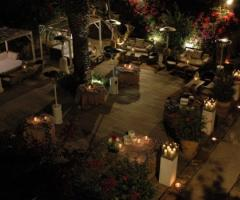 Terrazza Palma per ricevere gli ospiti alle nozze