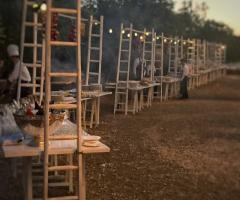Agriturismo Tredicina - I tavoli del buffet