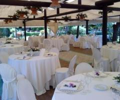 Villa del Vecchio Pozzo - Sala allestita per il ricevimento di matrimonio