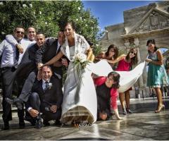 Fotografia in stile reportage di un momento del matrimonio