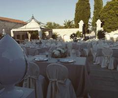 Masseria Cariello Nuovo - Il rinfresco nuziale all'aperto