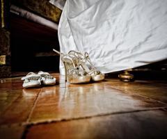 Foto delle scarpe della sposa