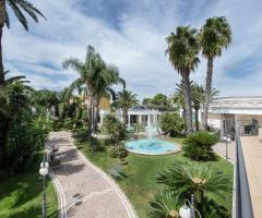 Il Vittoriano Ricevimenti - Vista del  giardino tropicale