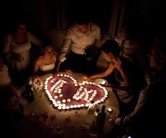 Le iniziali con le candele - Paola Montiglio Photography