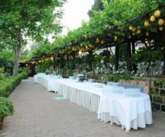Villa del Vecchio Pozzo - Allestimento per il ricevimento di matrimonio all'aperto