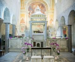 Abbazia di Sant'Andrea in Flumine - Chiesa interna per la cerimonia
