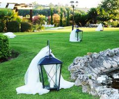 Villa Valente - Le lanterne in giardino
