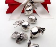 Conti Confetteria Torino - Pochette portaconfetti con con frutti bagnati in argento d\'argento