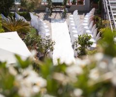 Il giardino di Villa Lina -  La cerimonia simbolica dall'alto