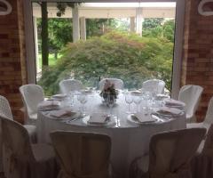 Tavolo rotondo per le nozze