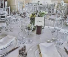 My White Carpet - l'allestimento ai tavoli
