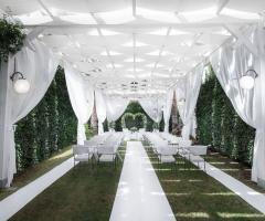 Il Vittoriano Ricevimenti - Il Dehor White, la cornice ideale per le cerimonie civili