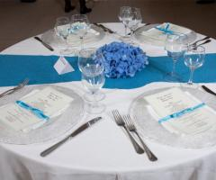 Kora Pool and Beach Events - Mise en place in blu per le nozze