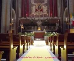 Chiesa allestita per il matrimonio