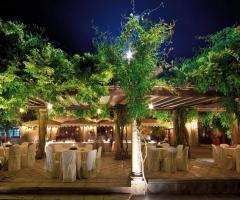 Villa Vergine - Ricevimento sotto il gazebo con piante