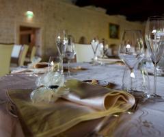 Villa Menelao - Dettaglio della mise en place per il matrimonio