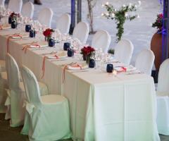Il giardino di Villa Lina - Il  tavolo degli invitati