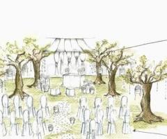 Bozzetto della cerimonia di nozze realizzato da Studio Stilistico La Ninfa