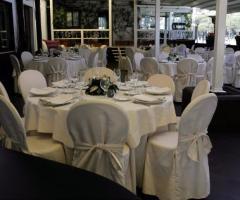 Virgilio Club - Mise en place bianca per il matrimonio