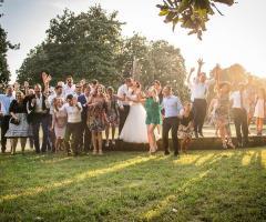 Dario Imparato Foto - Foto di gruppo con gli sposi