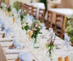 Le Rose di Zucchero Filato - Un tavolo del ricevimento